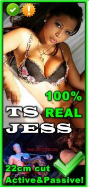 Jess 22cm Hung USA Shemale